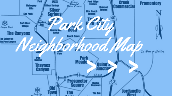 Map of the park city area neighborhoods
